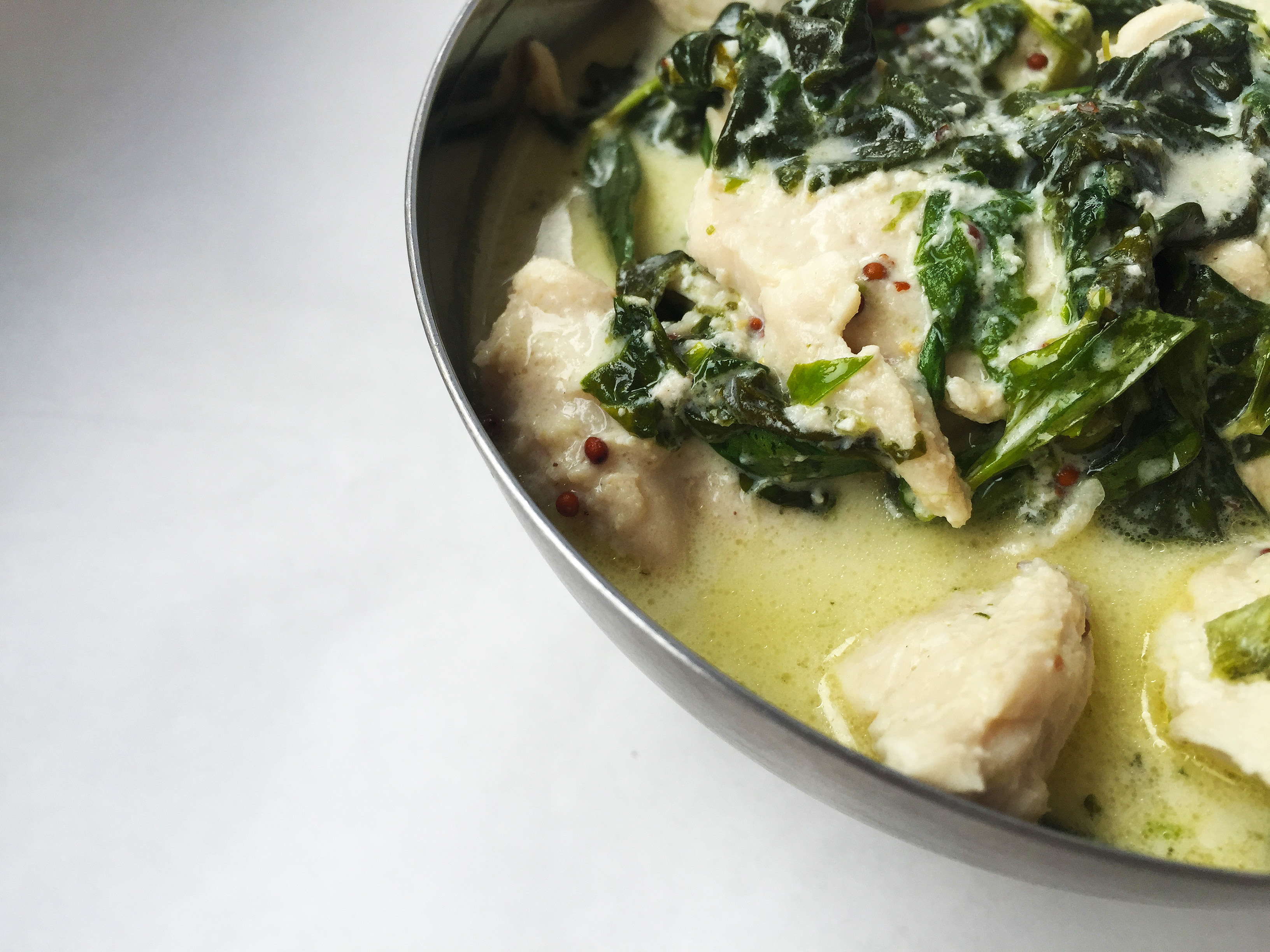 Paleo Chicken Tarragon & Spinach
