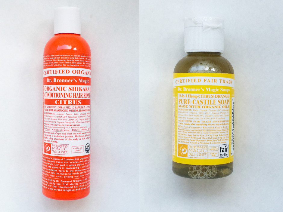 dr bronner 39 s review castile soap citrus conditioning hair. Black Bedroom Furniture Sets. Home Design Ideas