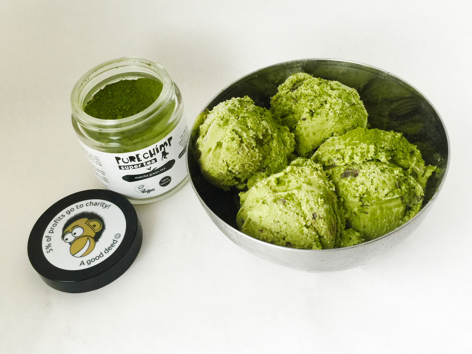 how to make green tea ice cream without eggs