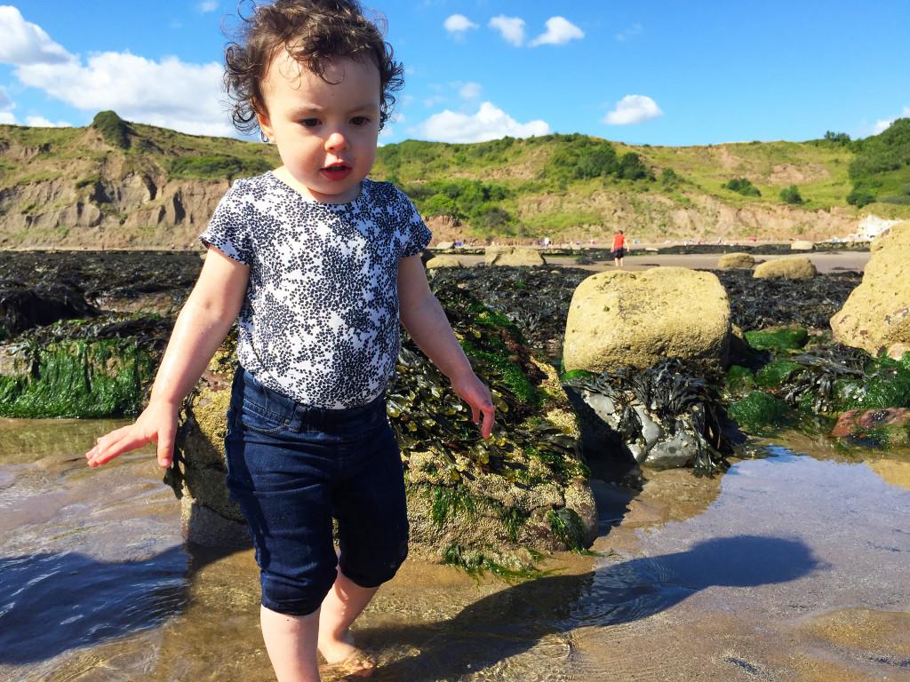 Anya having fun at the seaside!