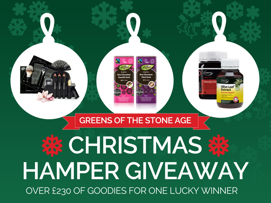 greens of the stone age christmas hamper giveaway now closed - Caveman Kitchen
