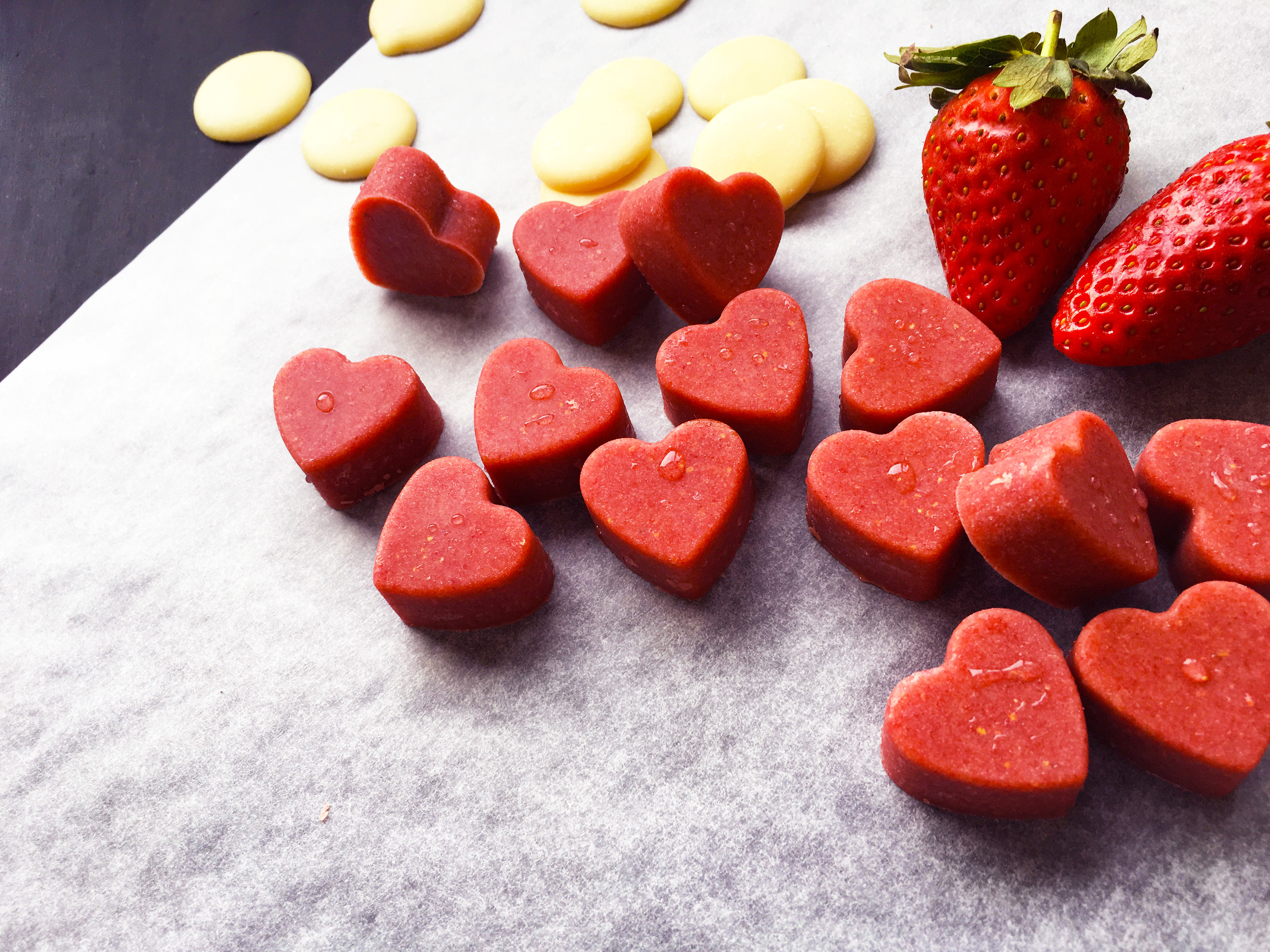 Paleo Strawberry Chocolate Hearts
