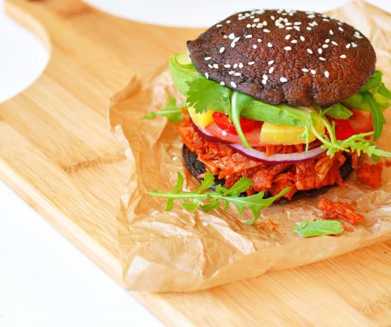 spicy-bbq-pulled-pork-jackfruit-portobello-buns-gluten-free-paleo-vegan-1