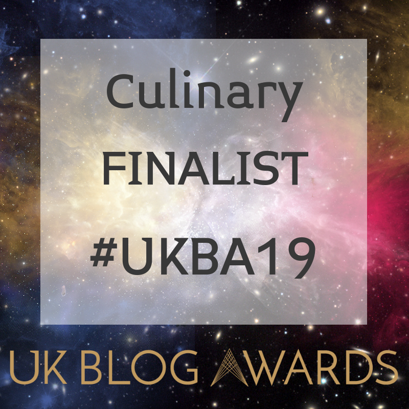 UK Blog Awards 2019 - Culinary Finalist