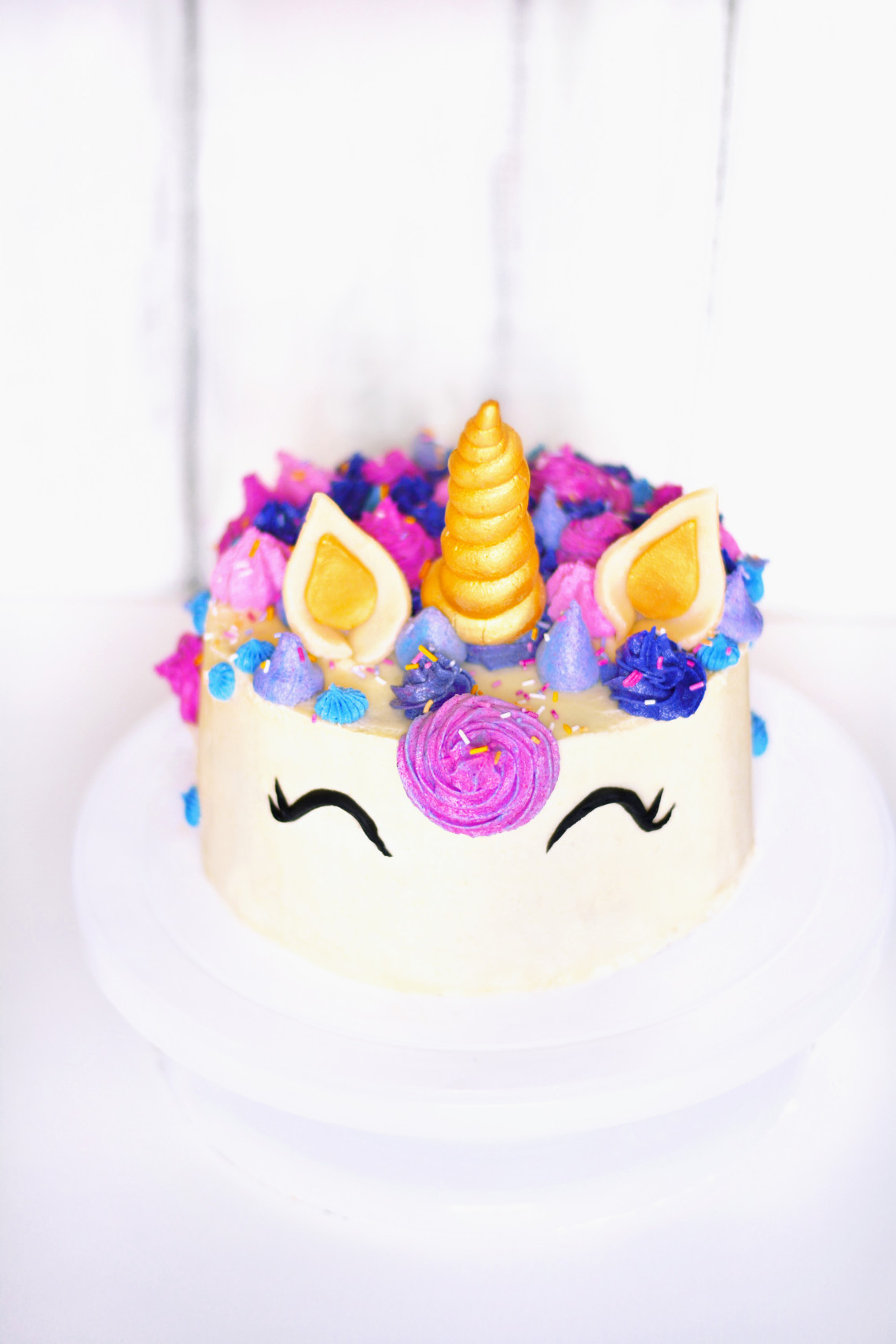 Vegan Baby Birthday Cake